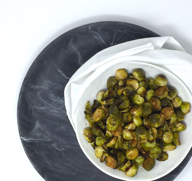 Roasted Balsamic Brussel Sprouts Top Down