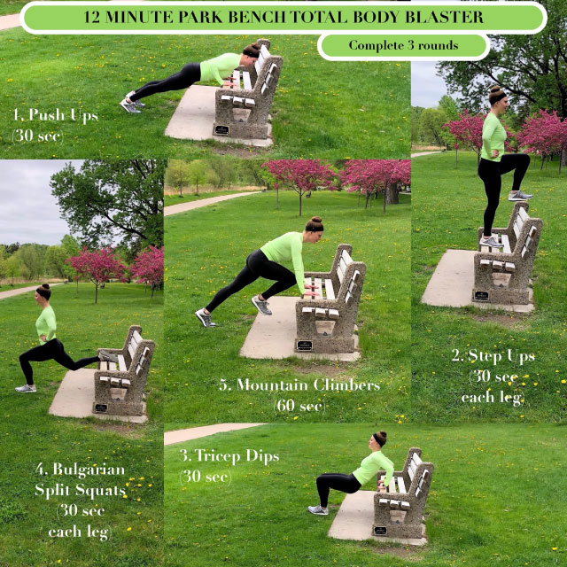 12 minute park bench total body blaster full image
