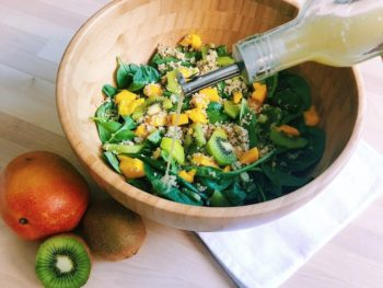Mango Kiwi Salad with Honey Lemon Vinaigrette