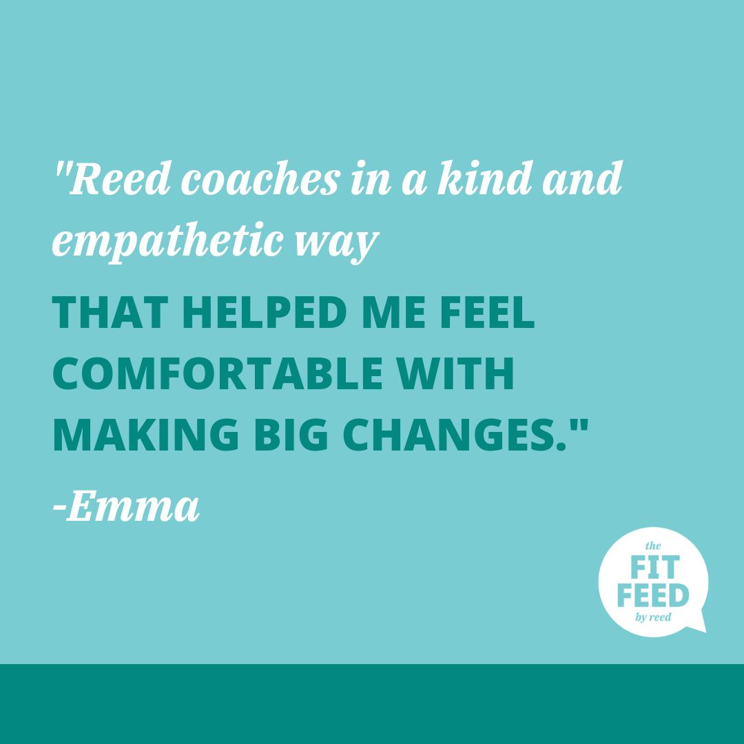 FitFeedByReed Virtual Wellness Coaching Testimonial By Emma N.