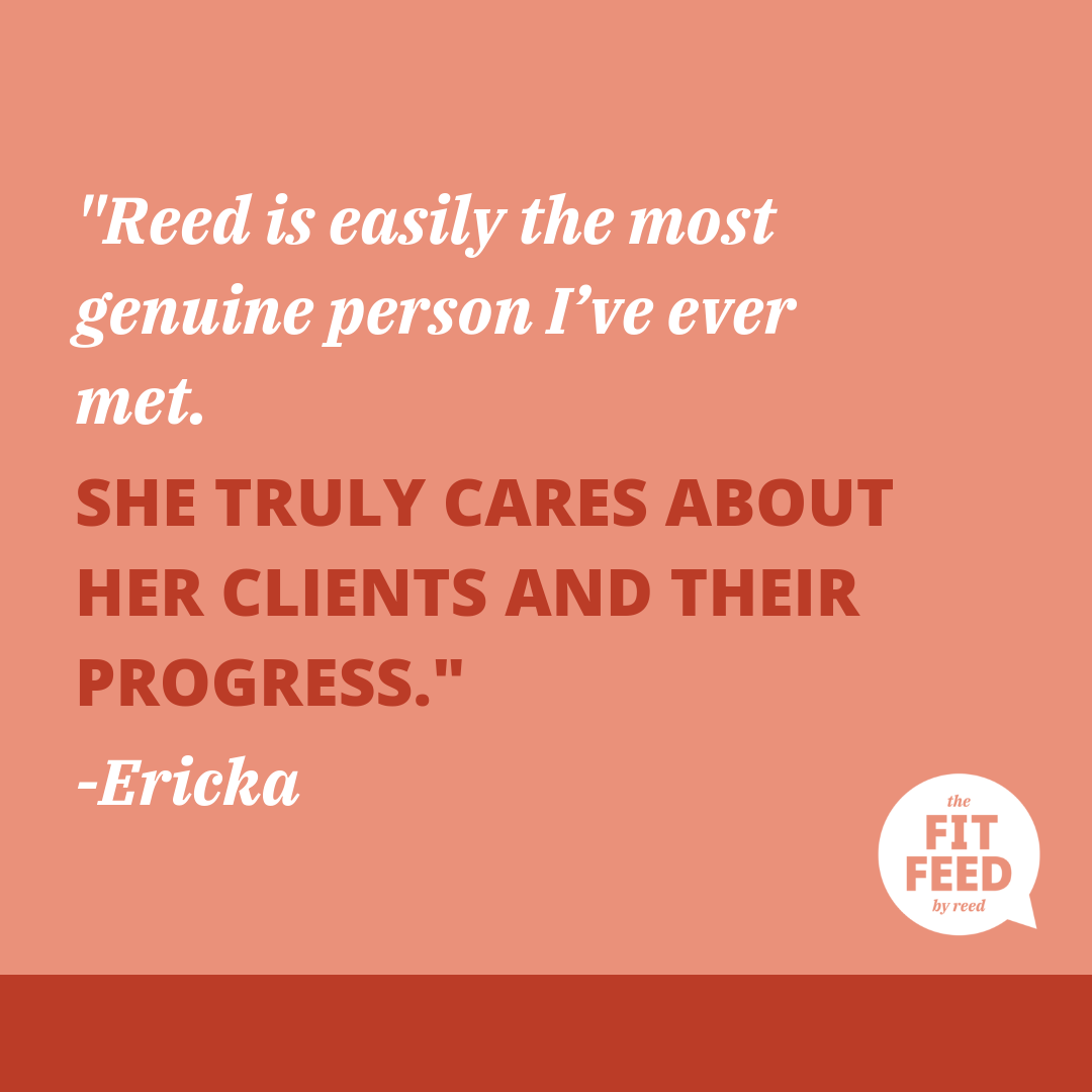 FitFeedByReed Small Group Wellness Coaching Testimonial By Ericka Hughes