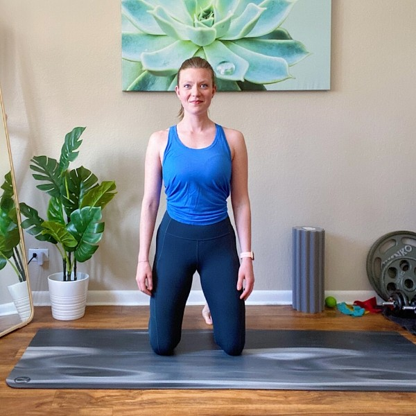 Kneel to Stand Bodyweight Combination Exercise Position 1