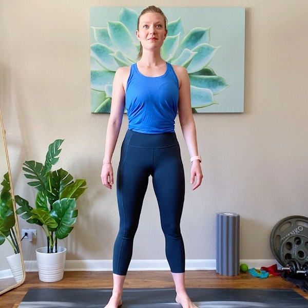 Kneel to Stand Bodyweight Combination Exercise Position 2