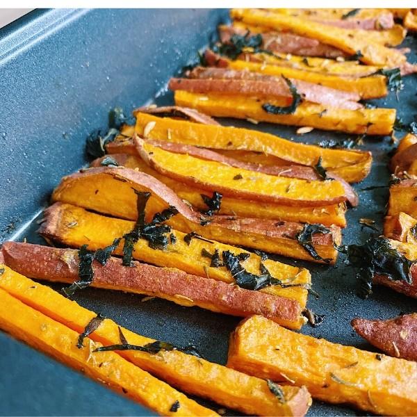 Homemade Sweet Potato Fries Close Up