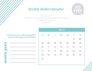 Habit Calendar May 2020