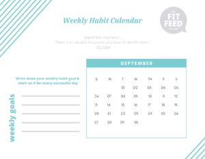 Habit Calendar September 2020