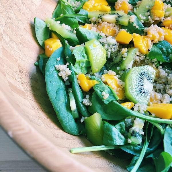 Close Up of Mango Kiwi Salad