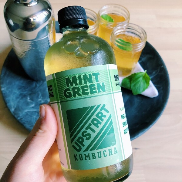 Upstart Mint Green Kombucha