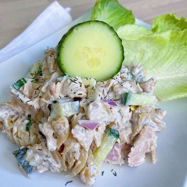 Close Up of Tuna Pasta Salad