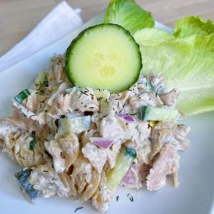 Tuna Pasta Salad Close Up
