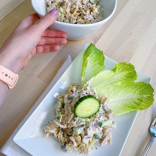 Protein Power Pasta Salad with Tuna