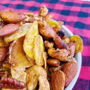 Paleo Honey Mustard Snack Mix Close Up
