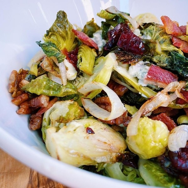 Bowl of Bacon Brussel Sprouts