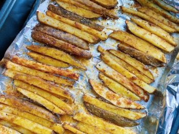 Baked Garlic Home Fries