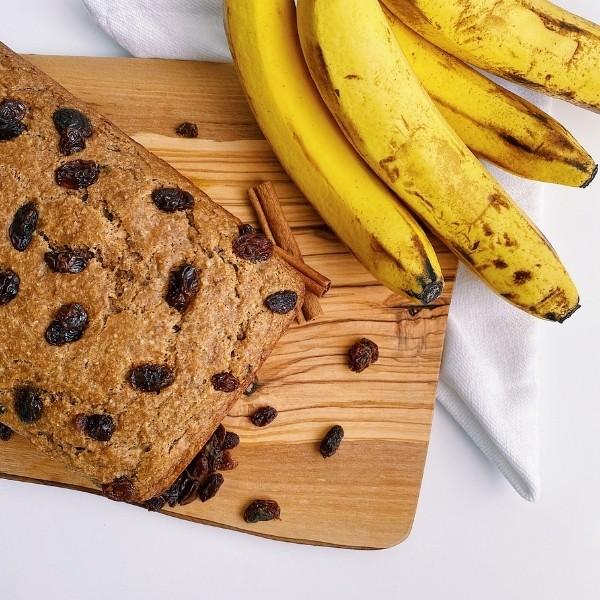 Loaf of Cinnamon Raisin Banana Bread