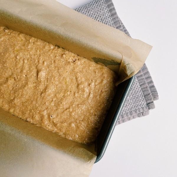 Uncooked banana bread