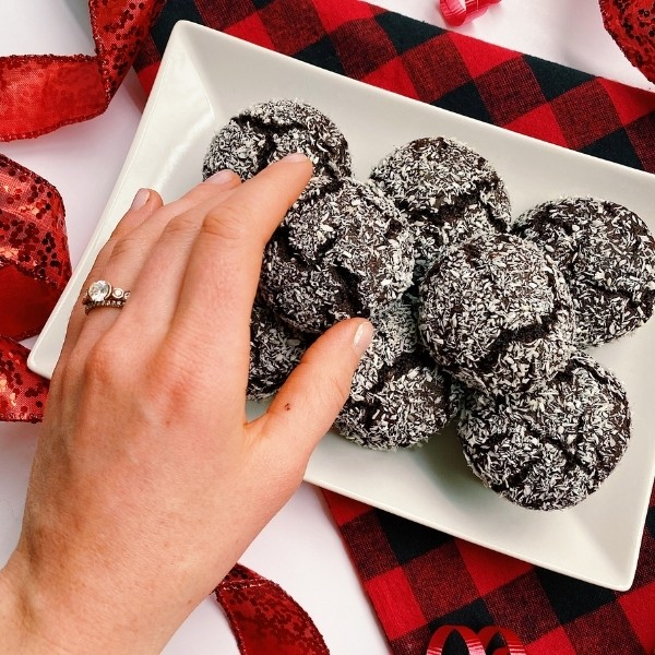 Reaching for healthy chocolate crinkle