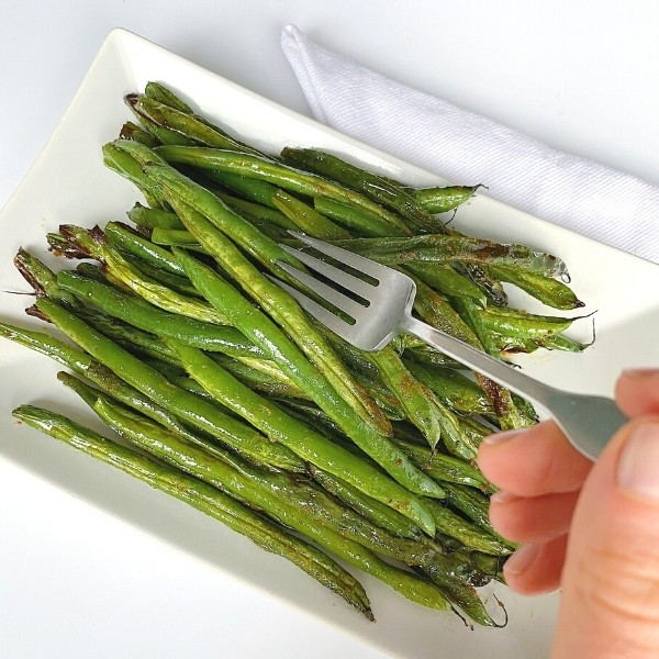 forkful of green beans