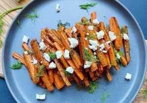 Roasted Carrots with Dill and Feta